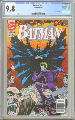 Batman # 491 CGC 9.8 White Pages 1993 2121278020 Prelude to Knightfall