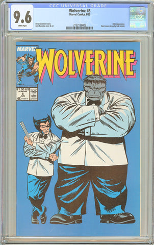 Wolverine #8 CGC 9.6 White Pages (1989) 2122126002