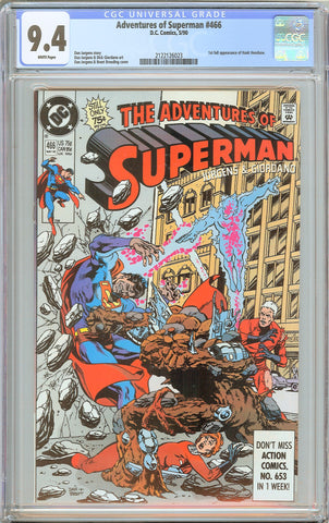 Adventures of Superman #466 CGC 9.4 WP 1990 2122126023 1st full Hank Henshaw