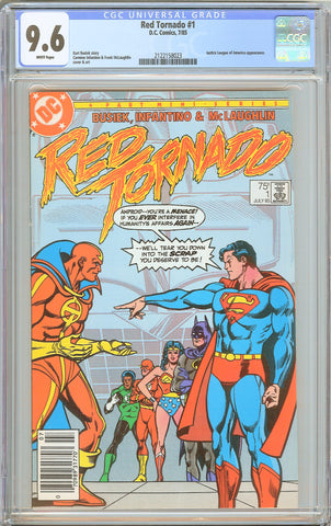 Red Tornado #1 CGC 9.6 White Pages 1985 2122158023 Newsstand Edition