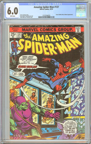 Amazing Spider-Man #137 CGC 6.0 WHITE PAGES 1974 2123164010 Green Goblin (Harry