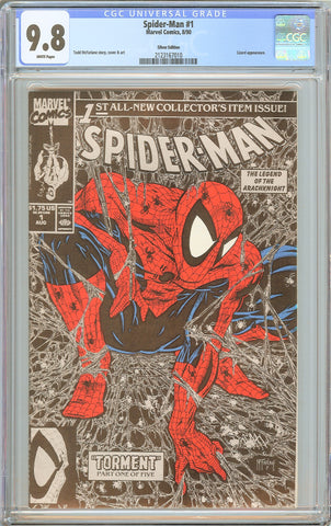 Spider-Man #1 CGC 9.8 White Pages 1990 2123167010 Silver Edition Todd McFarlane