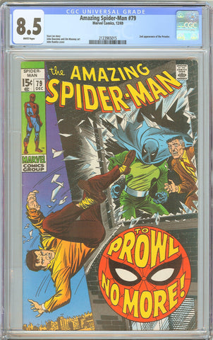 Amazing Spider-Man #79 CGC 8.5 WHITE PAGES 1969 2123965015 2nd Prowler