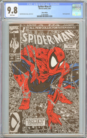 Spider-Man #1 CGC 9.8 White Pages 1990 2128164004 Silver Edition