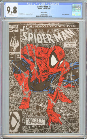 Spider-Man #1 CGC 9.8 White Pages 1990 2128164005 Silver Edition