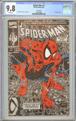 Spider-Man #1 CGC 9.8 White Pages 1990 2128164006 Silver Edition