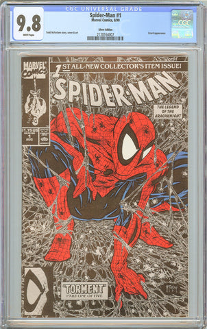 Spider-Man #1 CGC 9.8 White Pages 1990 2128164007 Silver Edition