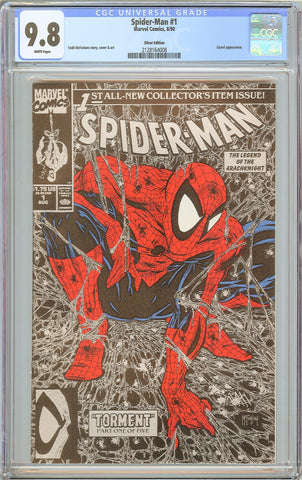 Spider-Man #1 CGC 9.8 White Pages 1990 2128164008 Silver Edition