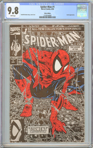 Spider-Man #1 CGC 9.8 White Pages 1990 2128164009 Silver Edition