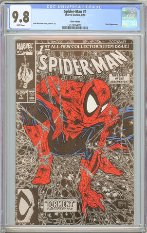 Spider-Man #1 CGC 9.8 White Pages 1990 2128164010 Silver Edition