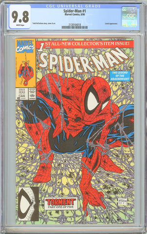 Spider-Man #1 CGC 9.8 White Pages 1990 2128164018 Todd McFarlane