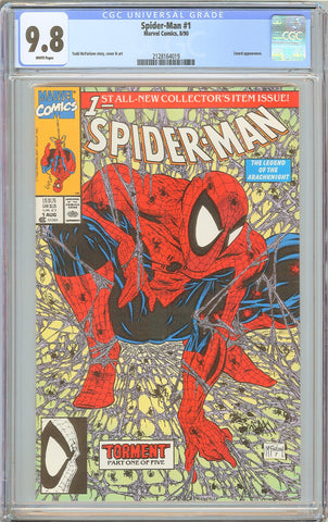 Spider-Man #1 CGC 9.8 White Pages 1990 2128164019 Todd McFarlane