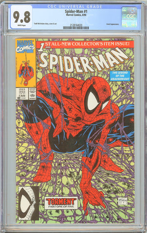 Spider-Man #1 CGC 9.8 White Pages 1990 2128164020