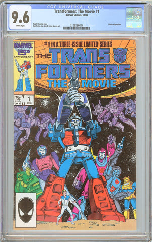 Transformers: The Movie #1 CGC 9.6 White Pages 1986 2128166014