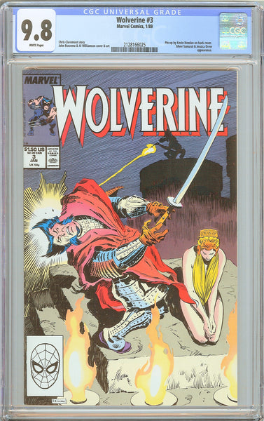 Wolverine #3 CGC 9.8 White Pages 1989 2128166025 Kevin Nowlan Pin-up!