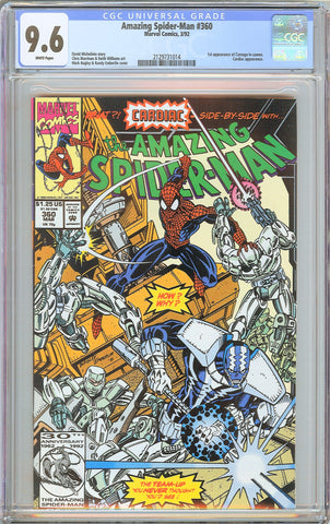Amazing Spider-Man #360 CGC 9.6 WP 1992 2129731014 1st Carnage in Cameo