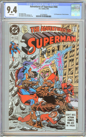 Adventures of Superman #466 CGC 9.4 WP 1990 2132793019 1st Full Hank Henshaw