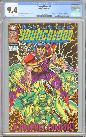 Youngblood #2 CGC 9.4 WP 1992 2135739002 1st app Shadowhawk & Prophet