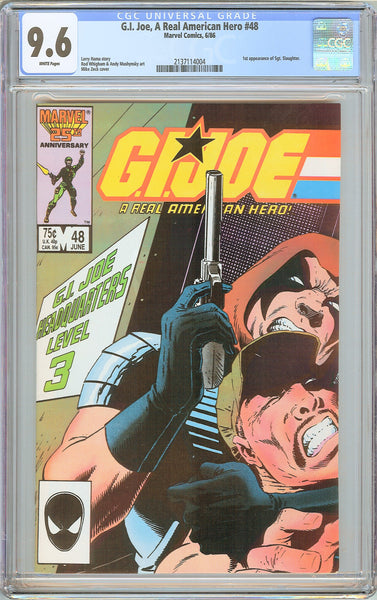 G.I. Joe A Real American Hero #48 CGC 9.6 White Pages 1986 2137114004