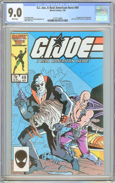 G.I. Joe A Real American Hero #49 CGC 9.0 White Pages 1986 2137114005