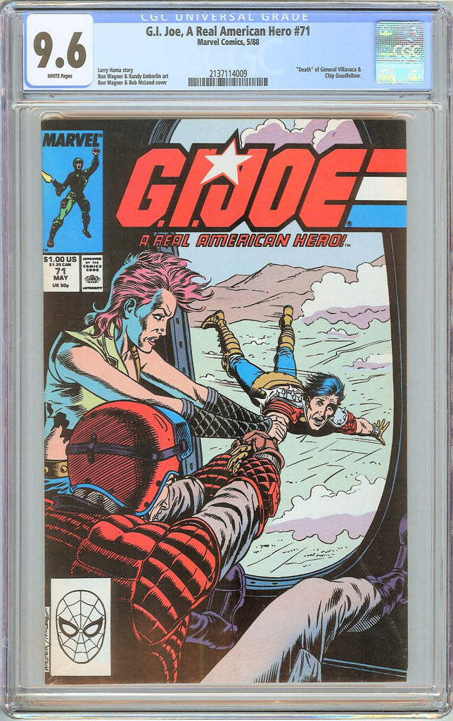 G.I. Joe A Real American Hero #71 CGC 9.6 White Pages 1988 2137114009