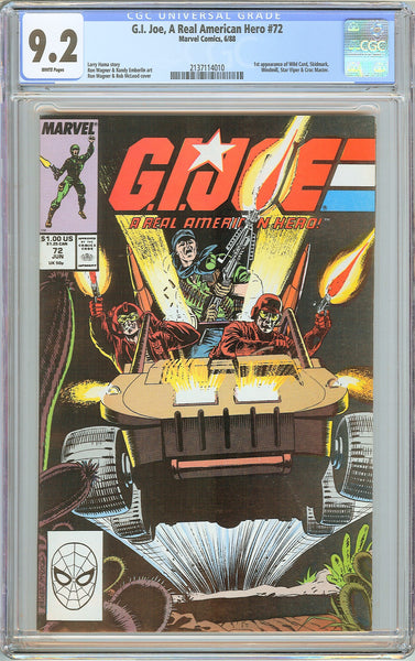 G.I. Joe A Real American Hero #72 CGC 9.2 White Pages 1988 2137114010