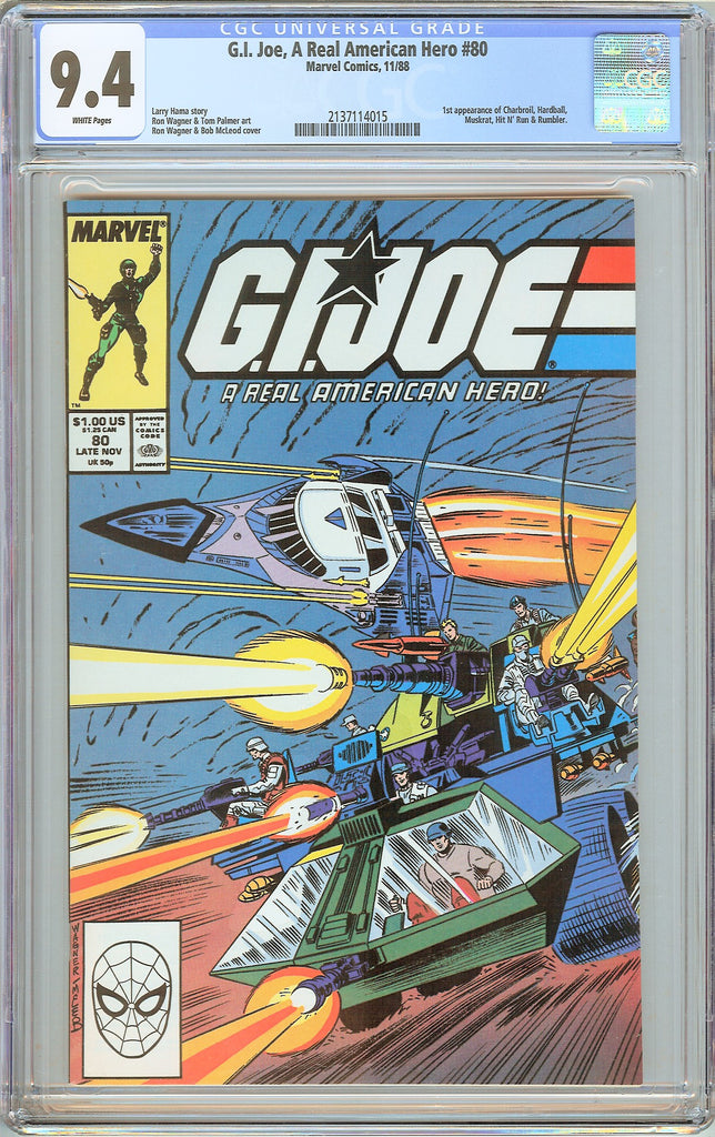 G.I. Joe A Real American Hero #80 CGC 9.4 White Pages 1988 2137114015