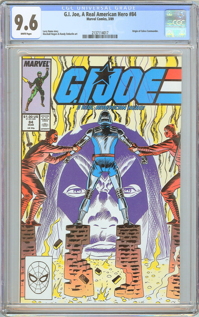 G.I. Joe A Real American Hero #84 CGC 9.6 White Pages 1989 2137114017