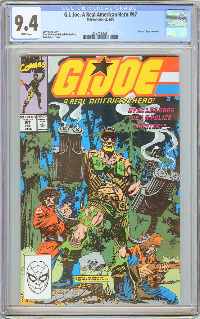 G.I. Joe A Real American Hero #97 CGC 9.4 White Pages 1990 2137114021