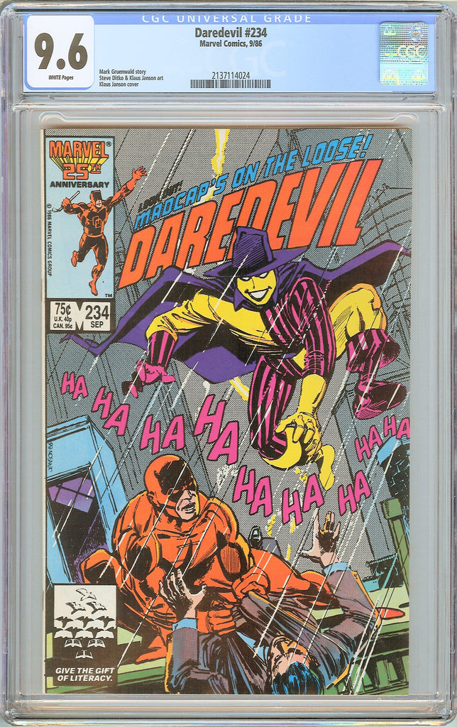 Daredevil #234 CGC 9.6 White Pages (1986) 2137114024