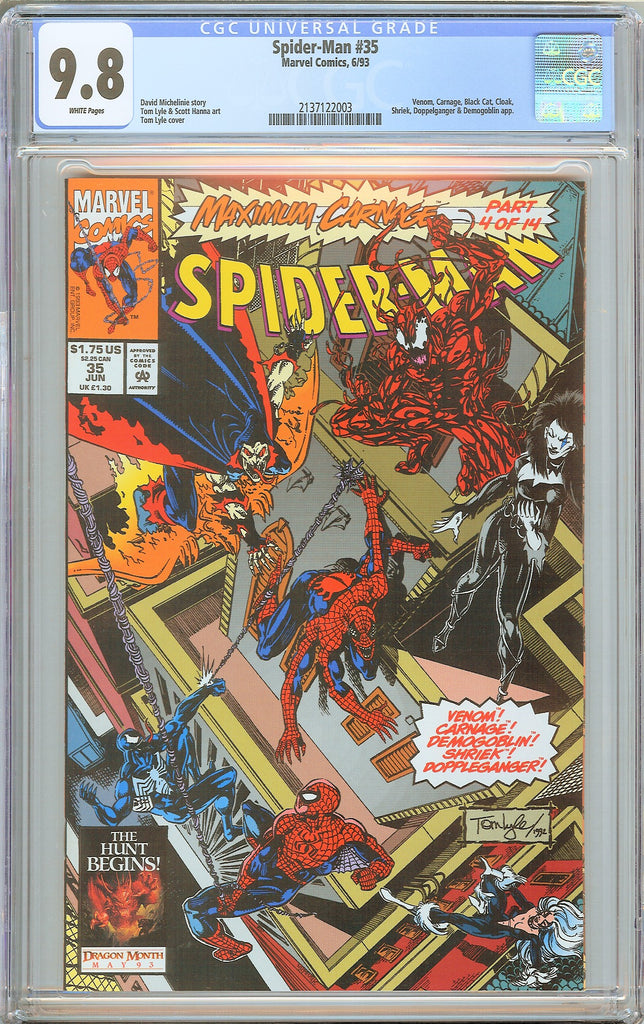 Spider-Man #35 CGC 9.8 WP 2137122003 Venom, Carnage, Black Cat