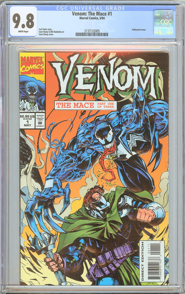 Venom The Mace #1 CGC 9.8 WP 2137122005 Embossed cover
