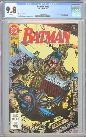 Batman # 490 CGC 9.8 WP 1993 2137122010 Who Riddled the Riddler?
