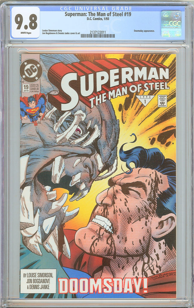 Superman The Man of Steel #19 CGC 9.8 WP 2137122011 Doomsday