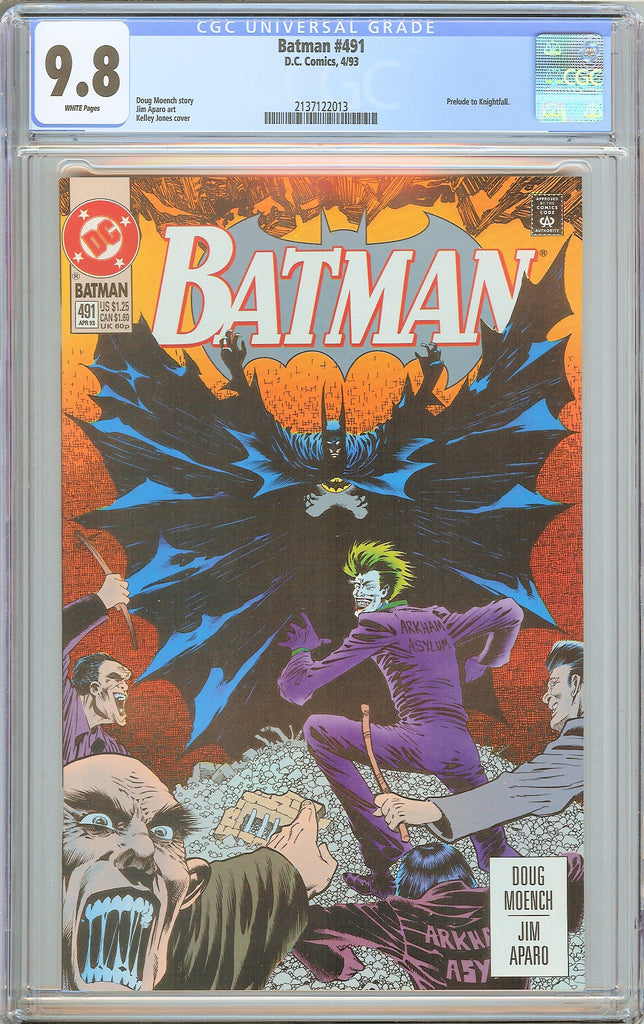 Batman # 491 CGC 9.8 White Pages 1993 2137122013 Prelude to Knightfall
