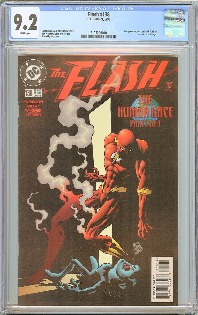 Flash #138 CGC 9.2 WP 1998 2137250010 1st Black Flash