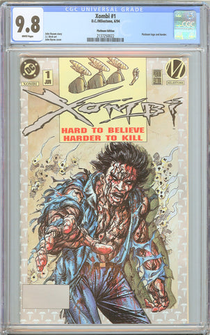 Xombi #1 CGC 9.8 White Pages 1994 2137250022 Platinum Edition