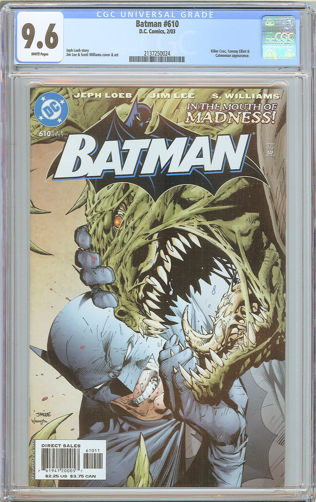 "Batman # 610 CGC 9.6 WP 2003 2137250024 ""In the Mouth of Madness"""