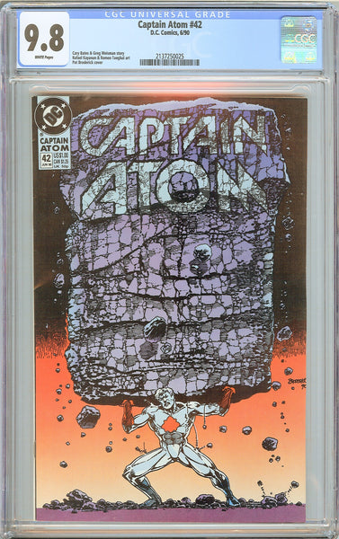 Captain Atom # 42 CGC 9.8 WP 1990 2137250025 1st Appearance Death DCU