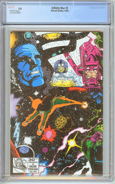 Infinity War #5 CGC 9.8 White Pages (1992) 2137251001