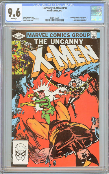 Uncanny X-Men #158 (1982) CGC 9.6 White Pages 2137251002