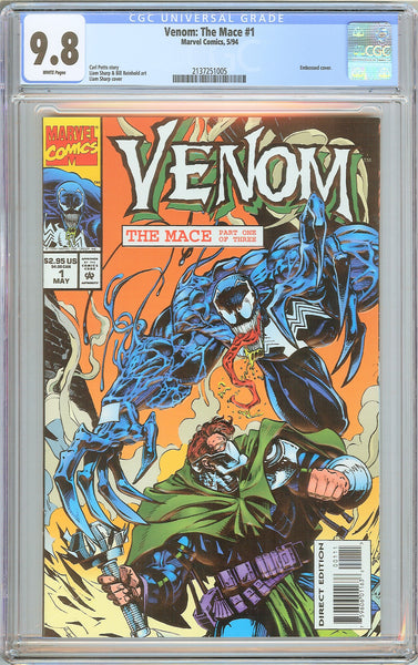 Venom The Mace #1 CGC 9.8 WP 2137251005 Embossed cover