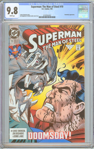 Superman The Man of Steel #19 CGC 9.8 WP 2137251012 Doomsday