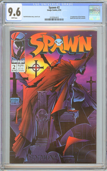 Spawn #2 CGC 9.6 WP 1992 2137251013 1st App of Violator
