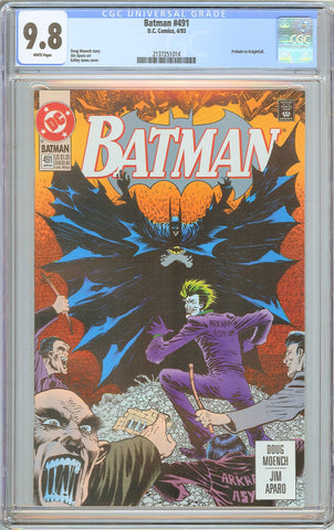Batman # 491 CGC 9.8 White Pages 1993 2137251014 Prelude to Knightfall