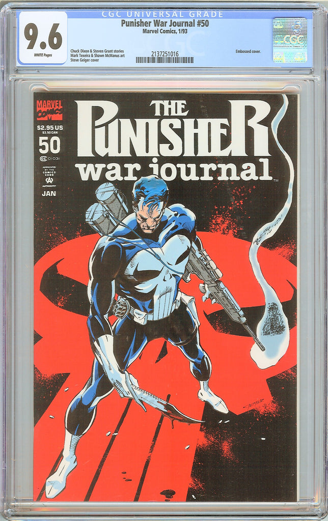 Punisher War Journal #50 CGC 9.6 White Pages 1993 2137251016
