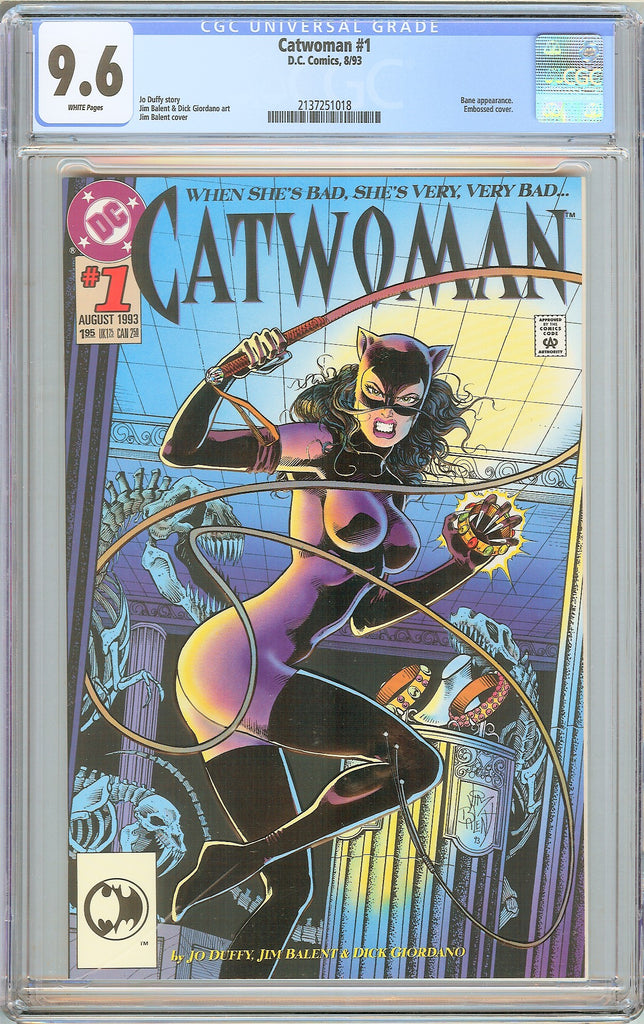 Catwoman #1 CGC 9.6 White Pages (1993) 2137251018