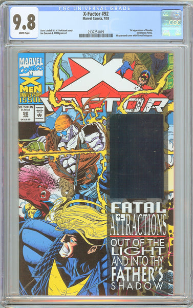 X-Factor #92 CGC 9.8 White Pages (1993) 2137251019 1st Exodus