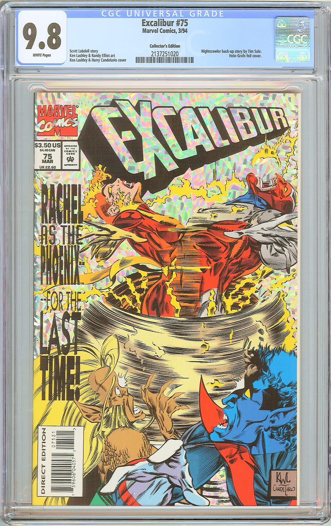 Excalibur #75 CGC 9.8 White Pages (1994) 2137251020