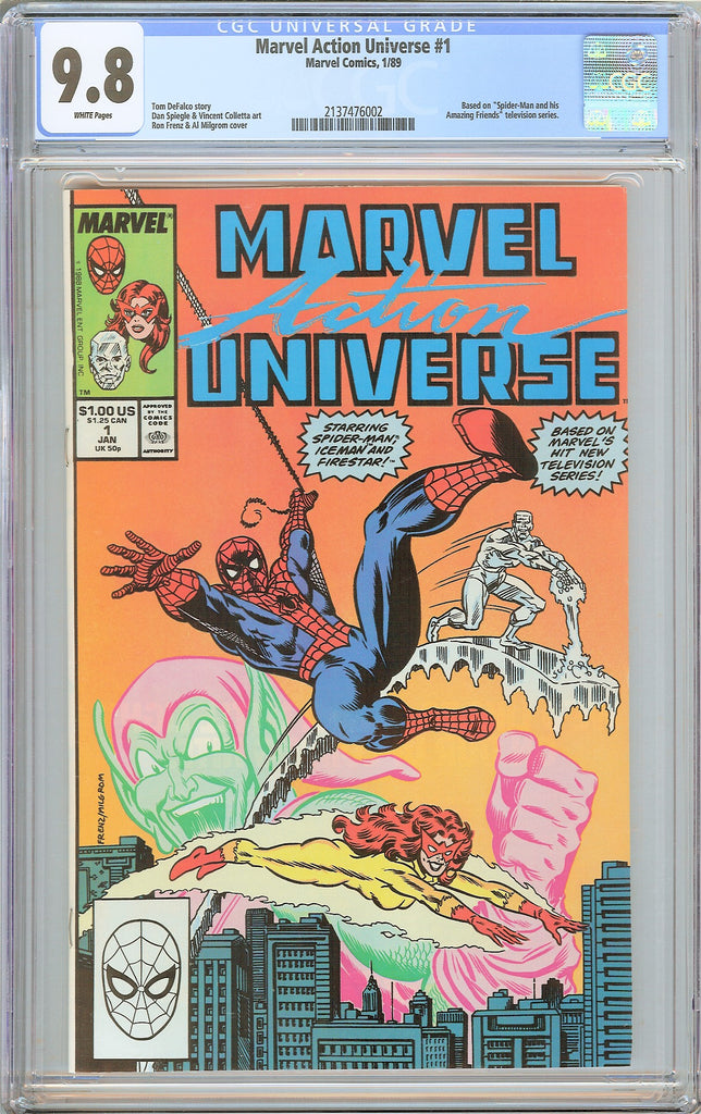 Marvel Action Universe #1 CGC 9.8 WP 1989 2137476002 Spider-Man Firestar Iceman
